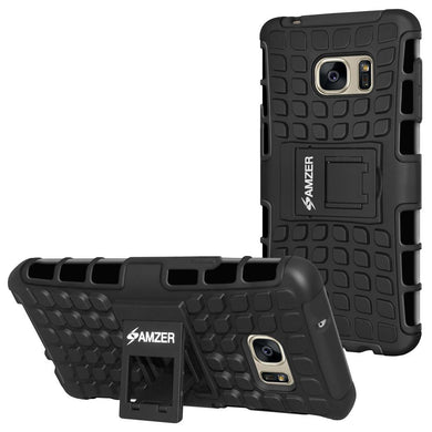AMZER Shockproof Warrior Hybrid Case for Samsung GALAXY S7 - Black/Black