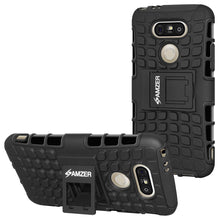 Load image into Gallery viewer, AMZER Hybrid Warrior Case for LG G5 - Black/Black