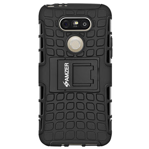AMZER Hybrid Warrior Case for LG G5 - Black/Black