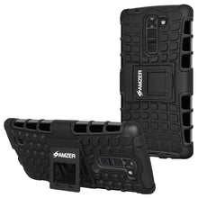 Load image into Gallery viewer, AMZER Shockproof Warrior Hybrid Case for LG K10 - Black/Black