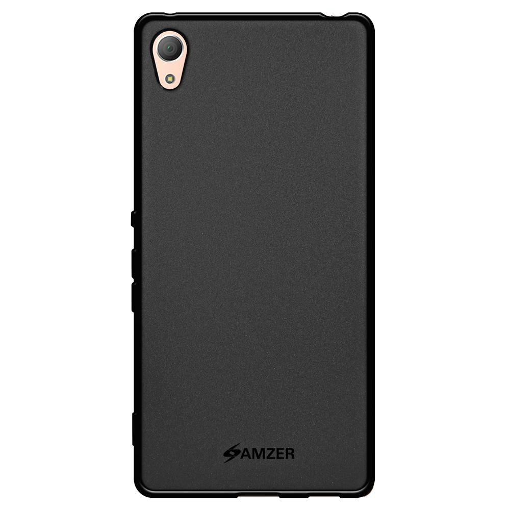 AMZER Pudding TPU Case - Black for Sony Xperia Z3 PLUS