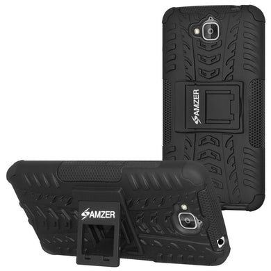 AMZER Warrior Hybrid Case for Huawei Honor Holly 2 Plus - Black/Black