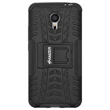 Load image into Gallery viewer, AMZER Shockproof Warrior Hybrid Case for Meizu m3 note - Black/Black