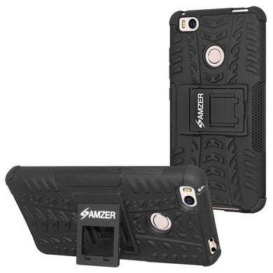 AMZER Shockproof Warrior Hybrid Case for Xiaomi Mi 4s - Black/Black
