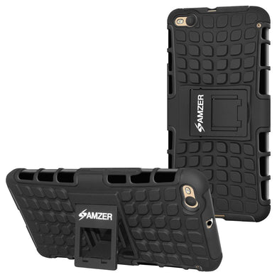 AMZER Hybrid Warrior Case for HTC One X9- Black/Black