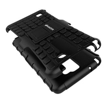Load image into Gallery viewer, Amzer Hybrid Warrior Case - Black/ Black for LG Stylus 2