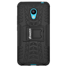 Load image into Gallery viewer, AMZER Shockproof Warrior Hybrid Case for Meizu M3 - Black/Black