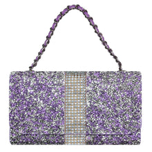 Load image into Gallery viewer, Universal 5 Inch Premium Dual Use Diamond Wallet Case - Purple