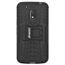 Load image into Gallery viewer, AMZER Warrior Hybrid Case for Motorola Moto G4 Play XT1602 - Black/Black