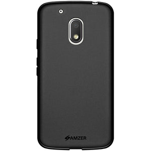 AMZER Pudding TPU Case - Black for Motorola Moto G4 Play XT1602