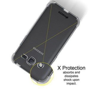 AMZER Pudding TPU X Protection Case Clear Samsung Galaxy J2 2016 SM-J210