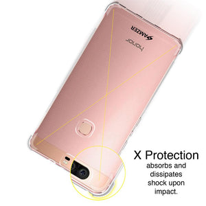 AMZER Pudding TPU X Protection Soft Skin Case for Huawei Honor V8 - Clear