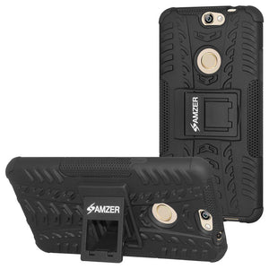 AMZER Shockproof Warrior Hybrid Case for Coolpad Max - Black/Black