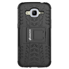 Load image into Gallery viewer, AMZER Shockproof Warrior Hybrid Case for Samsung Galaxy J2 2016 - Black/Black