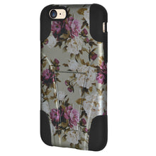 Load image into Gallery viewer, Amzer Double Layer Designer Hybrid Case with Kickstand - Romantic Pink White Roses Floral for iPhone 6s Plus, iPhone 6 Plus