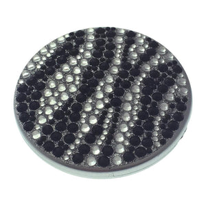 Compact Bling Mirror - Black/ Silver