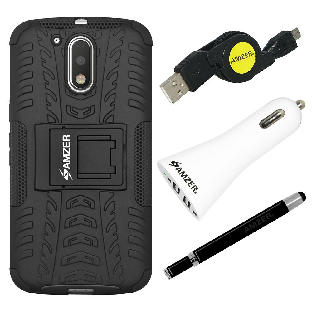 AMZER® Essential Combo Pack for Motorola Moto G4
