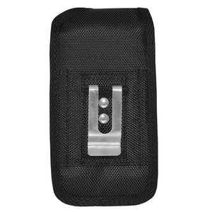 Large Oversized Heavy Duty Vertical Nylon Case with Belt Clip - Black for iPhone 6