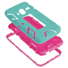 Load image into Gallery viewer, Premium Hip Vertical Hybrid Kickstand - Hot Pink/ Sky Blue for Samsung GALAXY Core Prime SM-G360