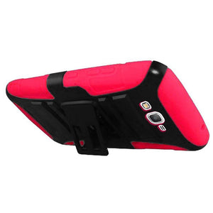 Hybrid Kickstand Case With Holster Clip - Black/ Hot Pink for Samsung GALAXY Go Prime G530A