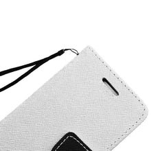 Load image into Gallery viewer, Leather Flip Wallet Credit Card Case - White for Samsung GALAXY Go Prime G530A