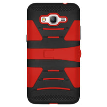 Load image into Gallery viewer, Hybrid Dual Layer U Kickstand Case - Red/ Black for Samsung GALAXY Go Prime G530A