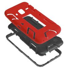 Load image into Gallery viewer, Premium Hip Vertical Hybrid Kickstand - Black/ Red for Samsung GALAXY Go Prime G530A