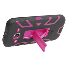 Load image into Gallery viewer, Premium Hip Vertical Hybrid Kickstand - Hot Pink/ Black for Samsung GALAXY Go Prime G530A
