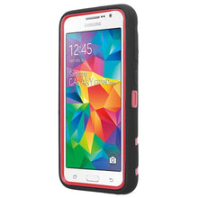 Load image into Gallery viewer, Premium Hip Vertical Hybrid Kickstand - Red/ Black for Samsung GALAXY Go Prime G530A