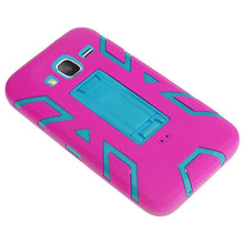Load image into Gallery viewer, Premium Hip Vertical Hybrid Kickstand - Sky Blue/ Hot Pink for Samsung GALAXY Go Prime G530A