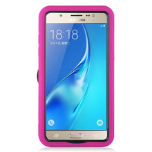 Load image into Gallery viewer, Premium Armor Case With Stand - Black/ Hot Pink for Samsung Galaxy On5