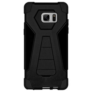 AMZER Dual Layer Hybrid KickStand Case - Black/ Black for Samsung Galaxy Note Fan Edition