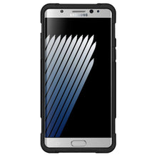 Load image into Gallery viewer, AMZER Dual Layer Hybrid KickStand Case - Black/ Black for Samsung Galaxy Note Fan Edition
