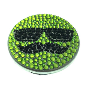 Compact Bling Mirror - Green/ Black