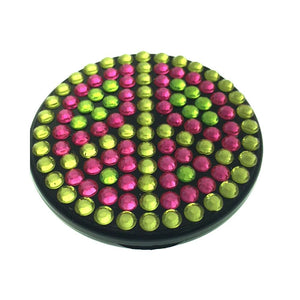 Compact Bling Mirror - Pink/ Green
