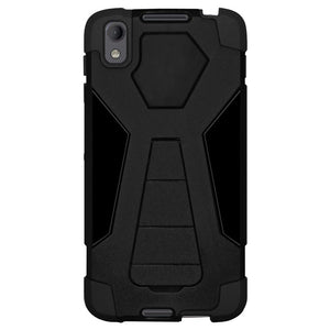 AMZER Dual Layer Hybrid KickStand Case for BlackBerry DTEK50 - Black/Black
