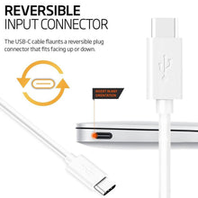 Load image into Gallery viewer, Amzer Type A to USB Type C Fast Data Sync & Charging Cord (3.3 Ft/ 1M) - White