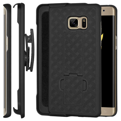 AMZER Shellster Hard Case Clip Holster for Samsung Galaxy Note Fan Edition - Black