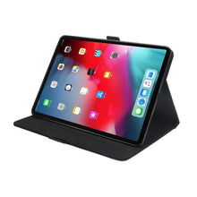 Load image into Gallery viewer, AMZER Premium PU Leather Folio Case for iPad Pro 12.9 inch 2018 with Apple Pencil Magnetic Charging and Card, ID, Wallet Slots