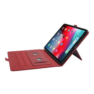 AMZER Premium PU Leather Folio Case for iPad Pro 12.9 inch 2018 with Apple Pencil Magnetic Charging and Card, ID, Wallet Slots