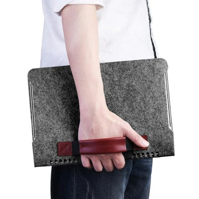 AMZER Portable Stylish Business Felt Sleeve Bag Protective Case for MacBook 13.3 inch - Dark Gray