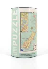 Jigsaw Puzzle NZ Tourist Map