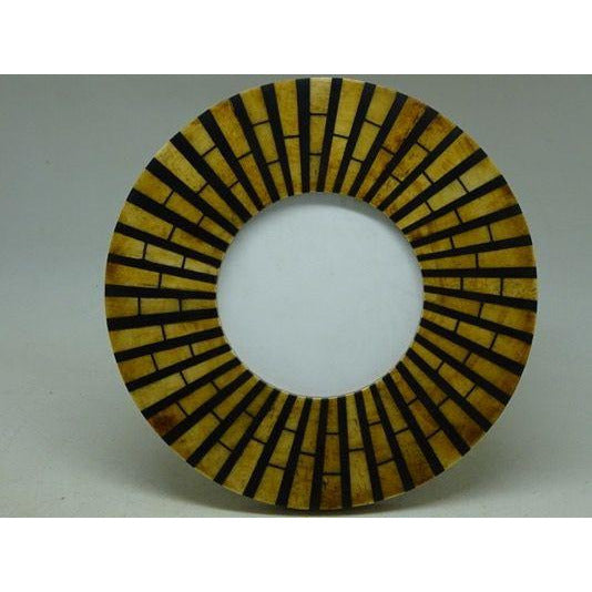 Antique /Black sunburst resin round frame Dia 9cm