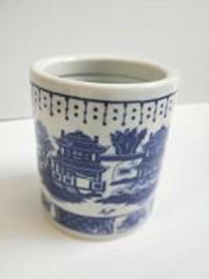 Small Blue & White Pen Pot