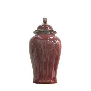 ceramic jar ,red color
