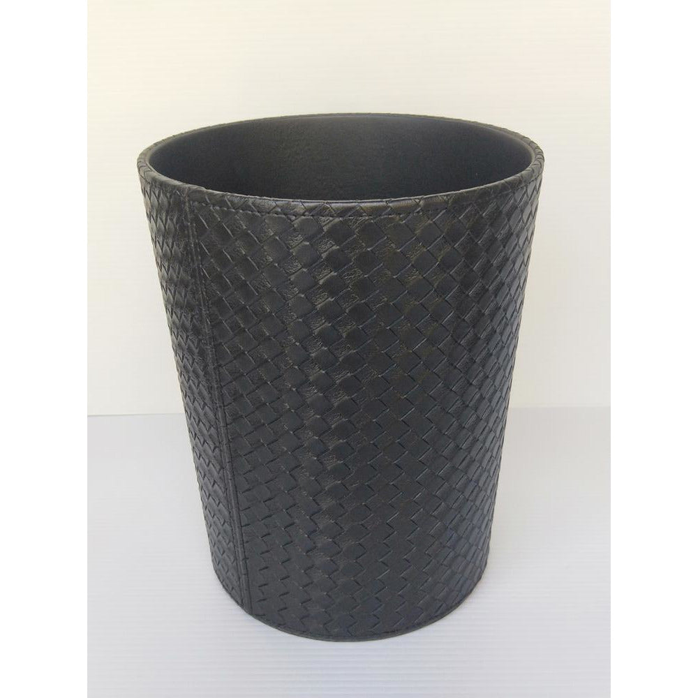 Black Plaited rubbish bin