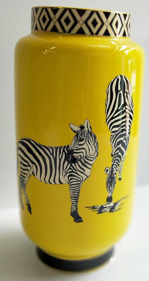Zebra Vase yellow ,16.23
