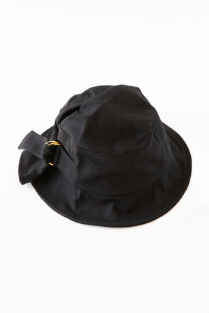 Gold Buckle Hat (Black)