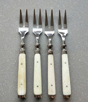 Cocktail Forks Bone Handle Set of 4