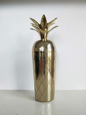 Pineapple Cocktail Shaker Stainless Steel Antique Brass finish